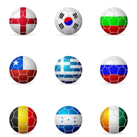 Soccer ball flag on a white background. Vector