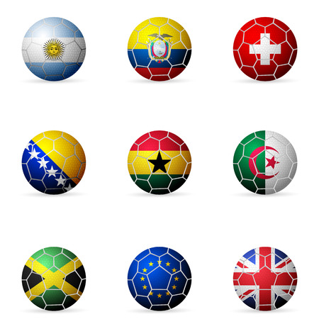 Soccer ball flag on a white background. Vector