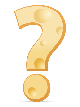 interrogative: Cheese question symbol on a white background. Vector illustration. Illustration