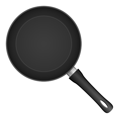 skillet: Frying pan on a white background. Vector illustration.