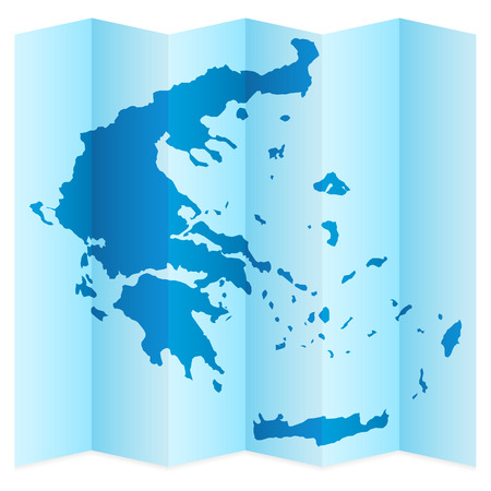 frontier: Greece map on a white background. Vector illustration.