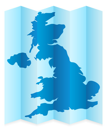 frontier: UK map on a white background. Vector illustration.