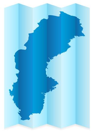 sweden map: Sweden map on a white background. Vector illustration.