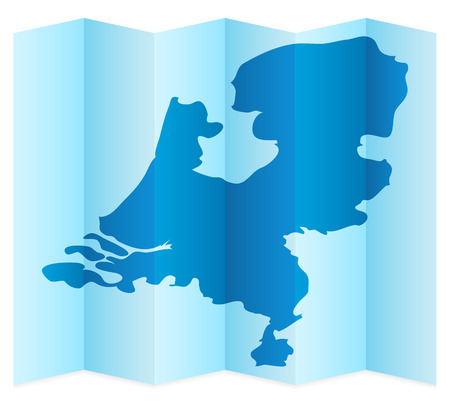 frontier: Netherlands map on a white background. Vector illustration.