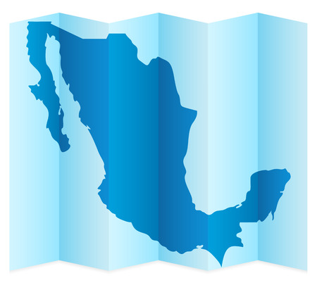 frontier: Mexico map on a white background. Vector illustration. Illustration