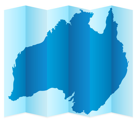 frontier: Australia map on a white background. Vector illustration.