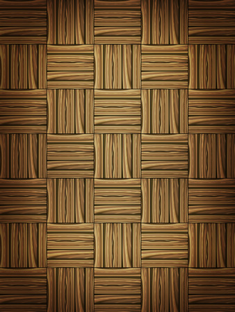 parquet floor: Wooden parquet floor background. Vector illustration.