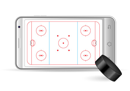 gsm phone: Smart phone hockey on a white background. Vector illustration.