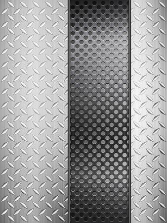 Patroon van metalen structuur achtergrond. Vector illustratie. Stock Illustratie