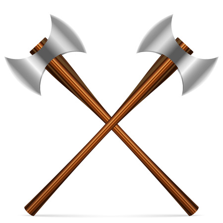 axes: Axes on a white background. Vector illustration.