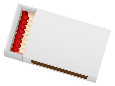 caja de cerillas: Matchbox sobre un fondo blanco. Ilustraci�n del vector. Vectores