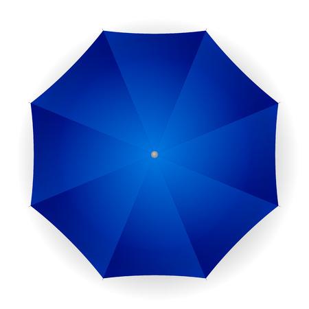 umbrella: umbrella blue on a white background. Vector illustration.