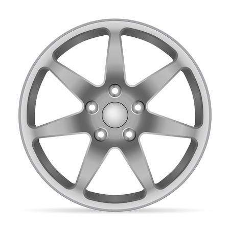 Wheel rim on a white background.
