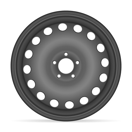 alloy wheel: Wheel rim on a white background.
