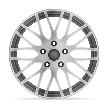Wheel rim on a white background.