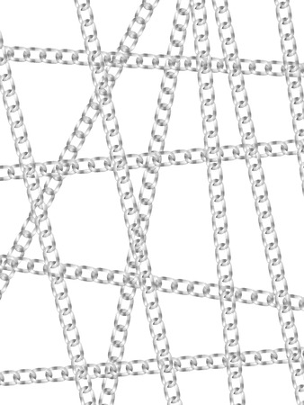 linkage: Chains on a white background. Vector illustration. Illustration