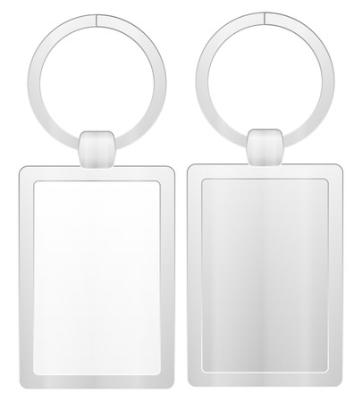 knickknack: Key ring on a white background.