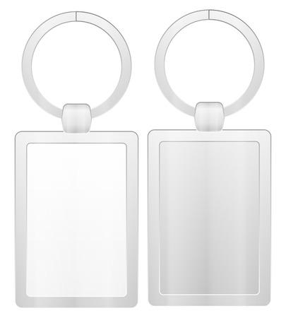 key ring: Key ring on a white background.