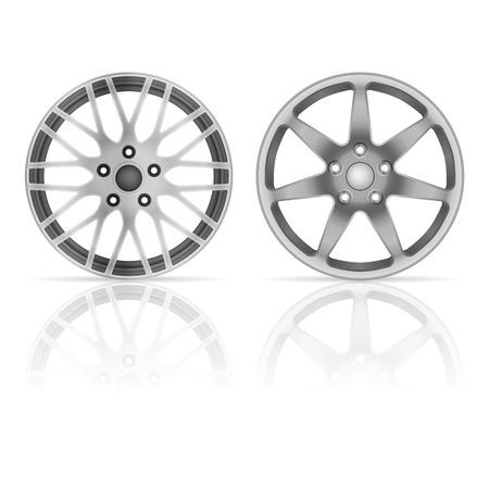 wheel rim: Wheel rim set on a white background. Illustration