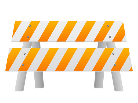 road safety: Road safety barrier on a white background.