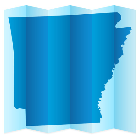 frontier: Arkansas map on a white background. Vector illustration.