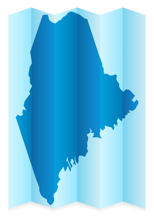 maine: Maine map on a white background. Vector illustration. Illustration