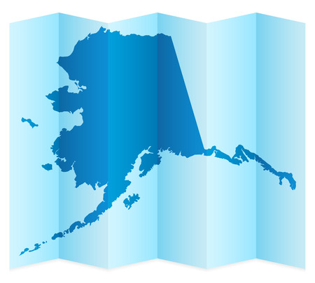 alaska map: Alaska map on a white background. Vector illustration.