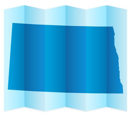 dakota: North Dakota map on a white background. Vector illustration.