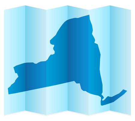 new york map: New York map on a white background. Vector illustration.