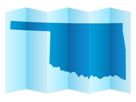 oklahoma: Oklahoma map on a white background. Vector illustration. Illustration
