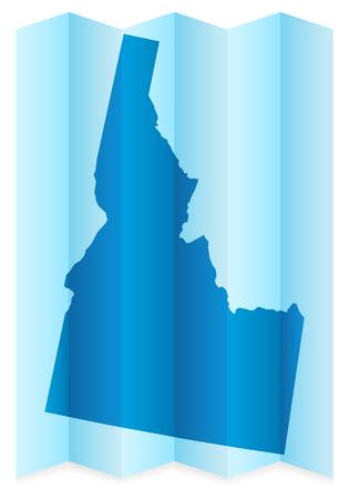 idaho: Idaho map on a white background. Vector illustration.