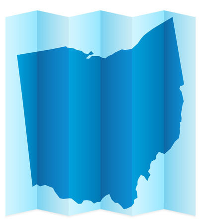 frontier: Ohio map on a white background. Vector illustration.