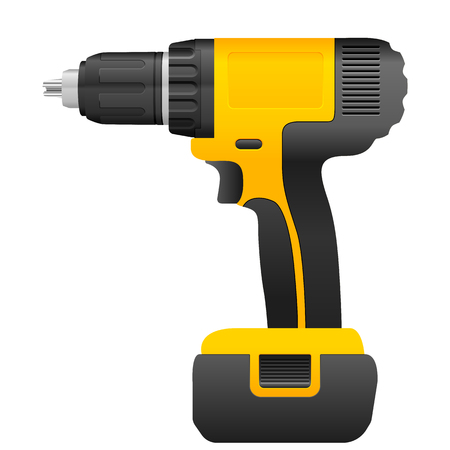 auger: Electric drill on a white background.