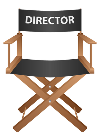 producer: Producer chair on a white background. Vector illustration.