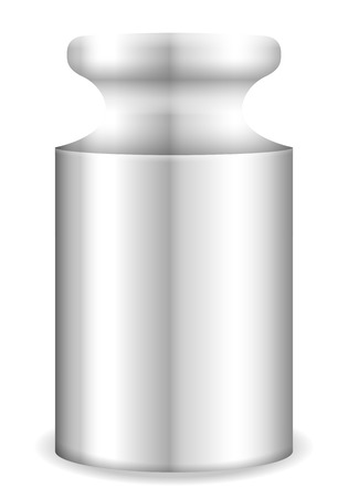 gram: Calibration weight on a white background. Vector illustration.
