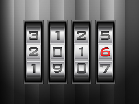 combination: Metallic combination lock 2016