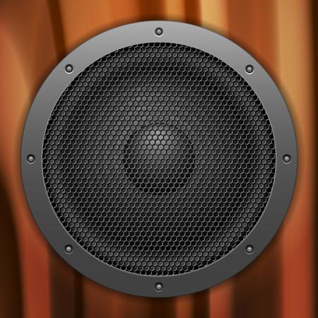 woofer: Wooden sound speaker background