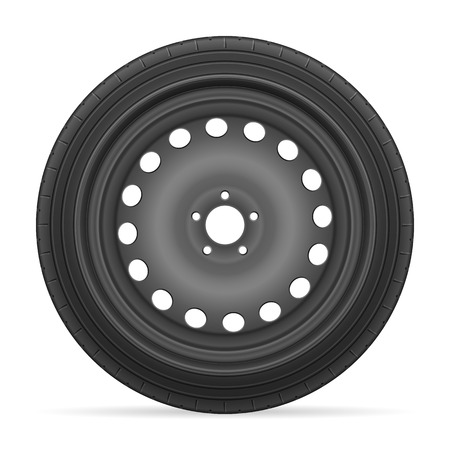 car tire: Car wheel tire on a white background.