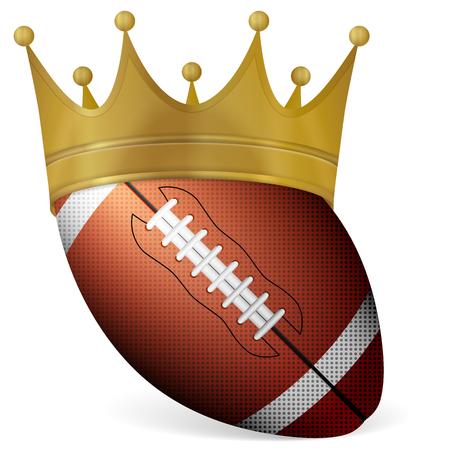 corona de reina: Pelota de f�tbol con la corona en un fondo blanco