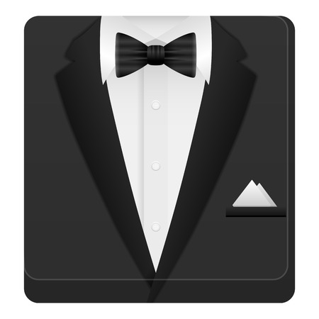 lazo negro: Man suit icon on a white background. Vector illustration.