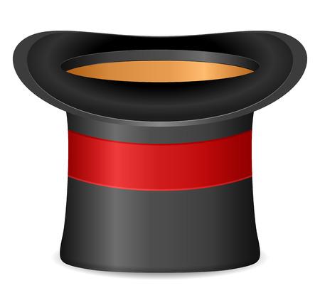 cylinder: Cylinder hat on a white background. Illustration