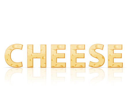 parmesan: Cheese text on a white background.
