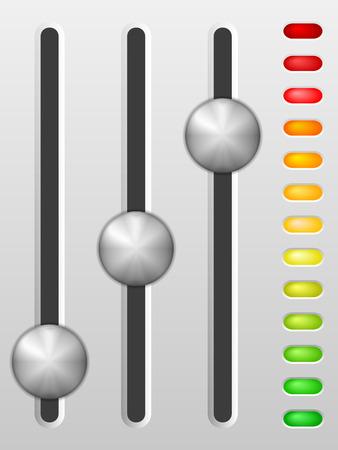 Sound Mischpult auf grauem Hintergrund.