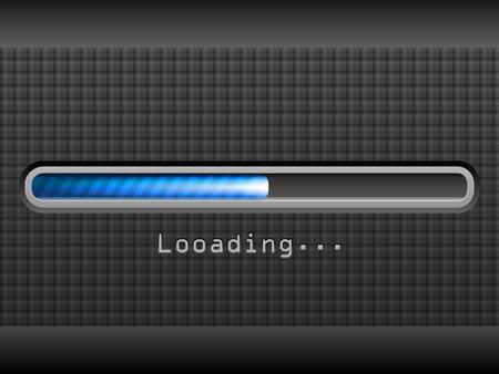 internet icon: Loading bar on a black background. Illustration