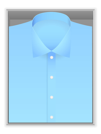 blue shirt: Blue shirt in box on a white background.