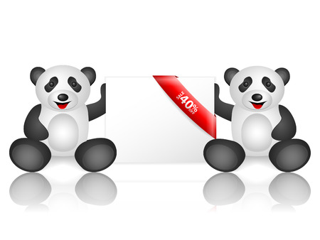 40: Pandas 40 percentage off on a white background.