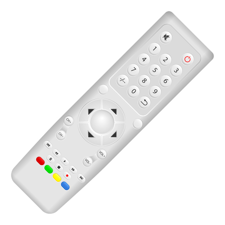 remote view: Remote control on a white background. Vector illustration.