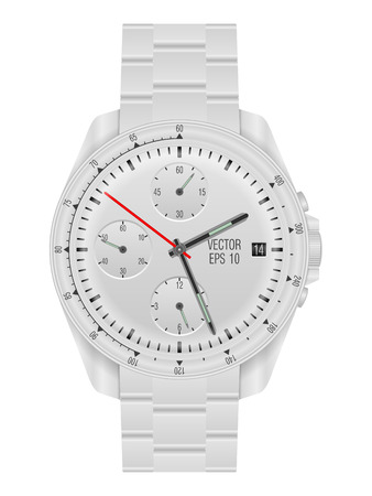wristwatch: Wristwatch on a white background. Vector illustration.