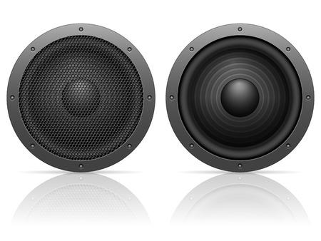 sound speaker: Sound speaker on a white background. Illustration