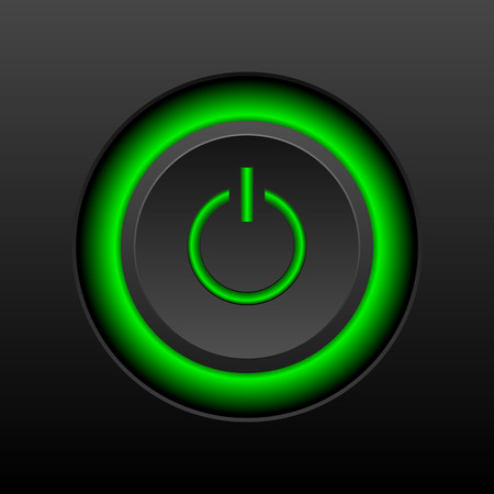 knob: Power button knob on a black background.